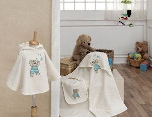 BEAR - Embroidered Baby Set $79.50